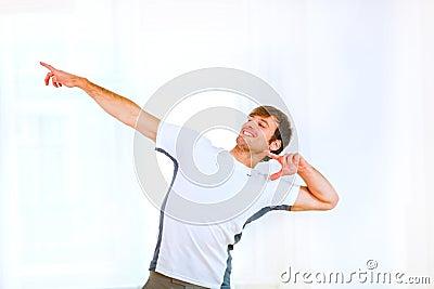 Man in sportswear posing