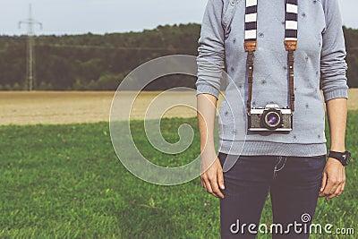 Man Standing Carrying Dslr Camera During Daytime Free Public Domain Cc0 Image
