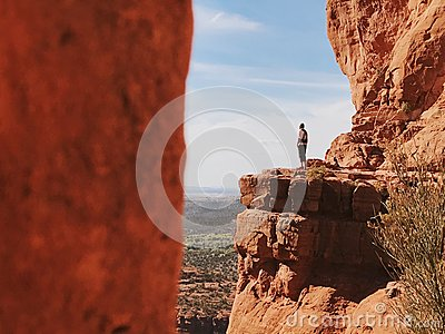 Man Standing On High Round Free Public Domain Cc0 Image