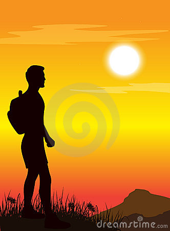 Man standing on mountain s top