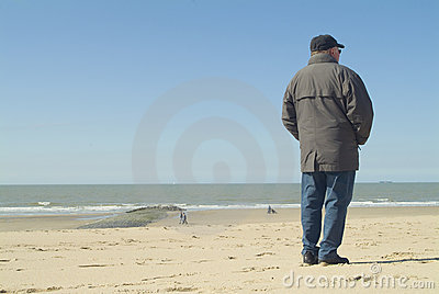 Man standing at the seaside
