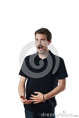 Man standing singing