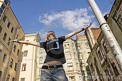 Man standing in the street