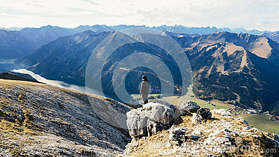 Man Standing On Top Of The Mountain Free Public Domain Cc0 Image