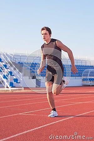 Man starts running.