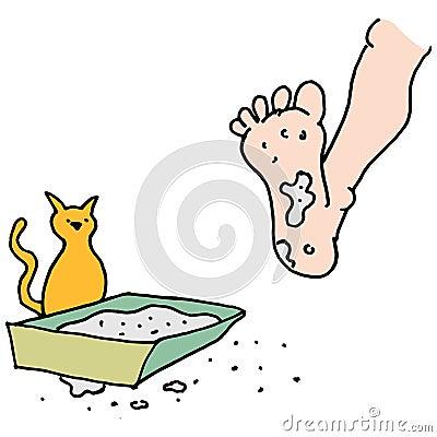 Dirty Cat Litter Box Stock Vector - Image: 39817633