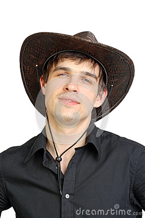 Man in stetson hat