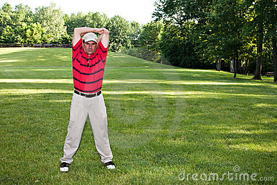 Man Stretching Golf