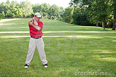 Man Stretching Golf
