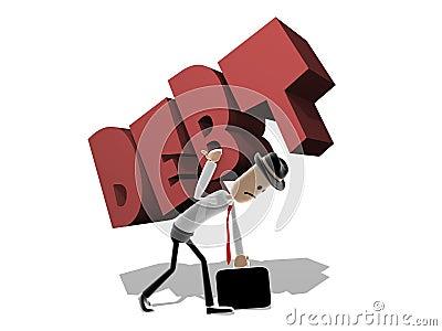 Man struggling with large Debt