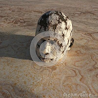 Man stuck in mud