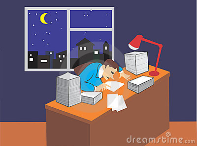 Man studying documents