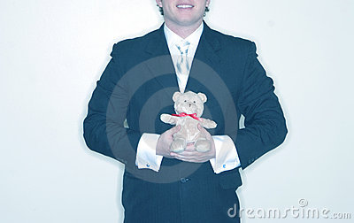 Man with Stuffed Bear