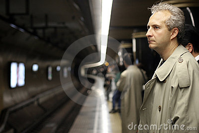 Man in subway
