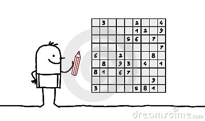 Man & sudoku
