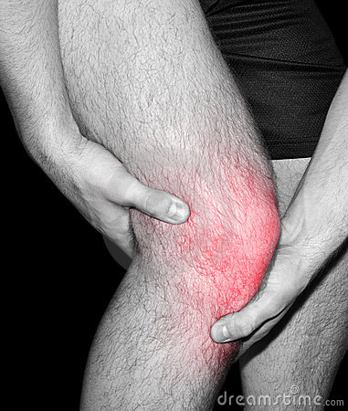 Man suffering joint pain in knee
