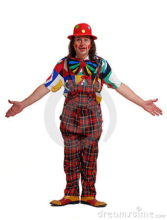 Man in the suit of clown
