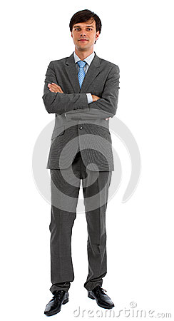 Man in Suit with Folded Arms