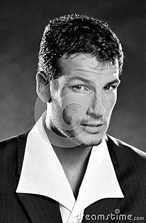 Man in suit - glare