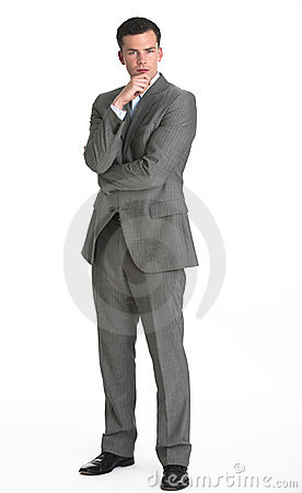 Man in Suit Looking at Camera