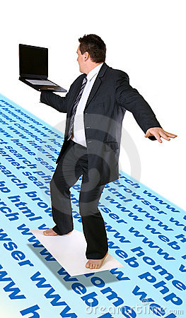 Man Surfing Internet
