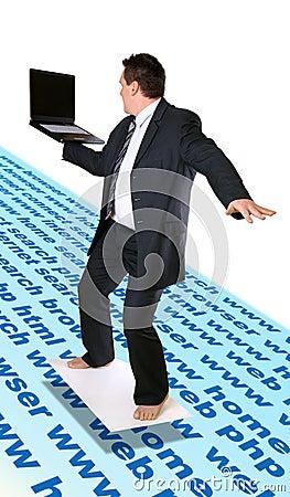 Free Man Surfing Internet Stock Image - 111081