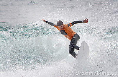 Man Surfing Shortboard