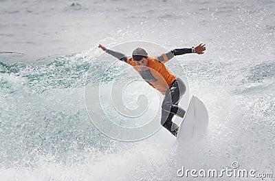 Man Surfing Shortboard