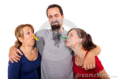 Man sweats and women do not want to smell it