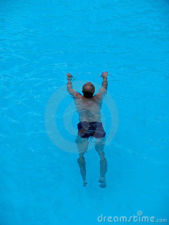 Man swimming in a pool royalty free stock photo image for Pool man show