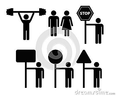 Man symbol w sign