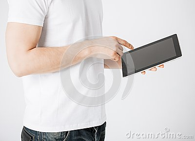 Man with tablet pc