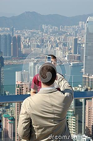 Man taking his friend photo