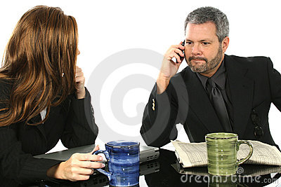 Man Taking Important Call