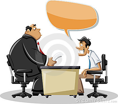 Man talking with his boss