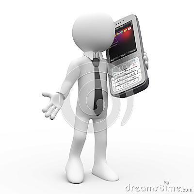 Free Man Talking On Mobile Phone Royalty Free Stock Image - 17436616