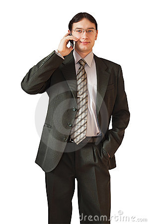 Man Talking On The Phone Stock Photo - Image: 18741540