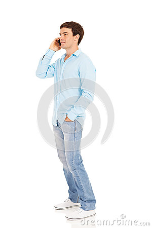 Free Man Talking Phone Royalty Free Stock Photography - 34731977