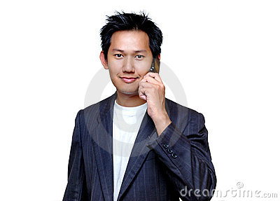 Man talking to the cell phone