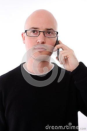 Man talking to a friend