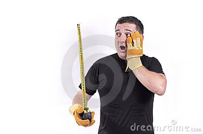 Man with a tape measure
