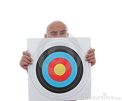 Man with target