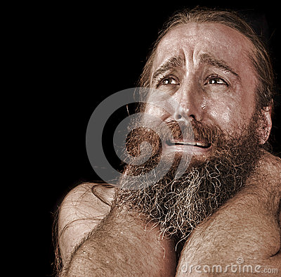 Man In Tears stock photo. Image of dramatic, pain, tears ...