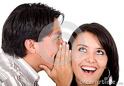 Man telling a secret