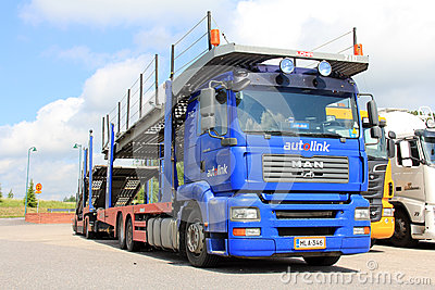 MAN TGA 18.440 Car Carrier Truck Editorial Stock Image