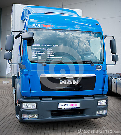 MAN TGL 12.250 delivery truck Editorial Stock Photo