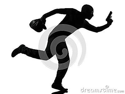 Man thief criminal running