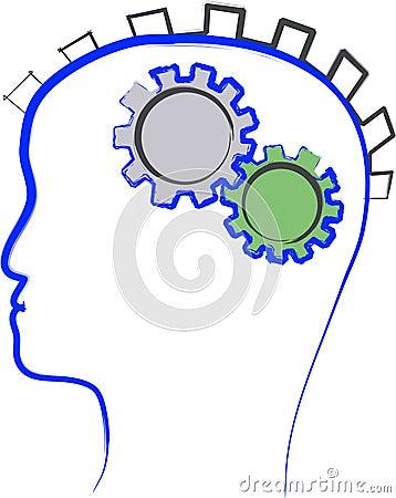 Man thinking illustration
