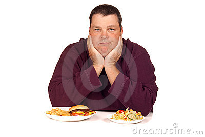 Man thinking what to eat
