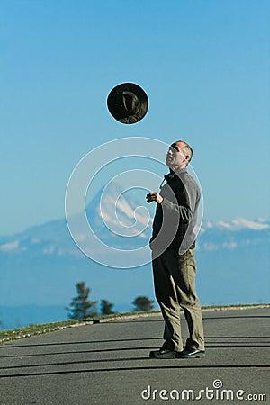 Man Throw Hat
